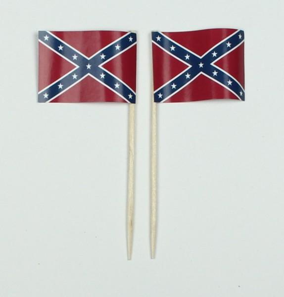 Party-Picker Flagge Südstaaten USA Bundesstaat Papierfähnchen in Spitzenqualität 50 Stück Beutel