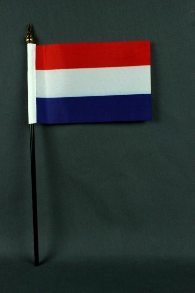 Kleine Tischflagge Niederlande Holland 10x15 cm optional mit Tischfähnchenständer