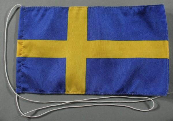 Tischflagge Schweden 25x15 cm optional mit Holz- oder Chromständer Tischfahne Tischfähnchen