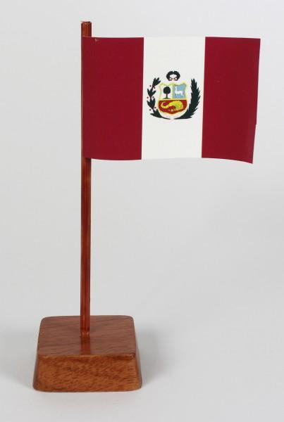 Mini Tischflagge Peru Höhe 13 cm Tischfähnchen