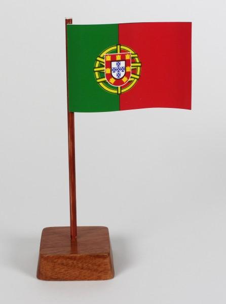 Mini Tischflagge Portugal Höhe 13 cm Tischfähnchen