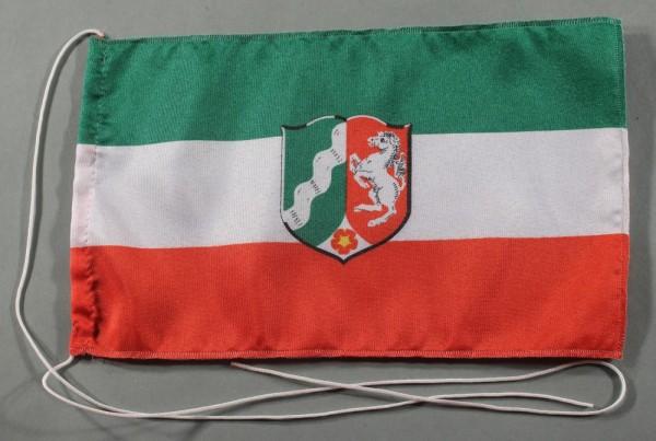 Tischflagge Nordrhein Westfalen NRW 25x15 cm optional mit Holz- oder Chromständer Tischfahne Tischfä