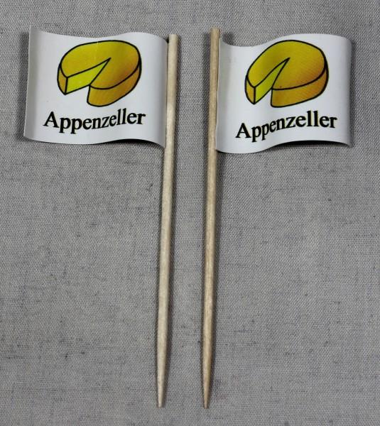 Party-Picker Flagge Appenzeller Käse Papierfähnchen in Spitzenqualität 50 Stück Beutel