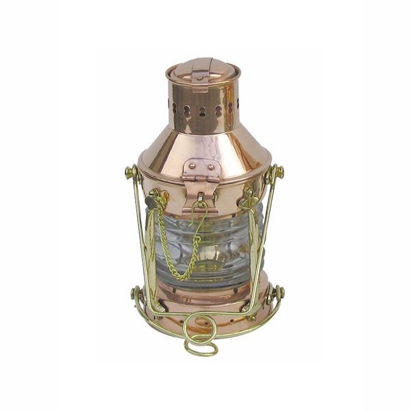 Ankerlampe Kupfer/Messing elektrisch Schiffslampe 24cm