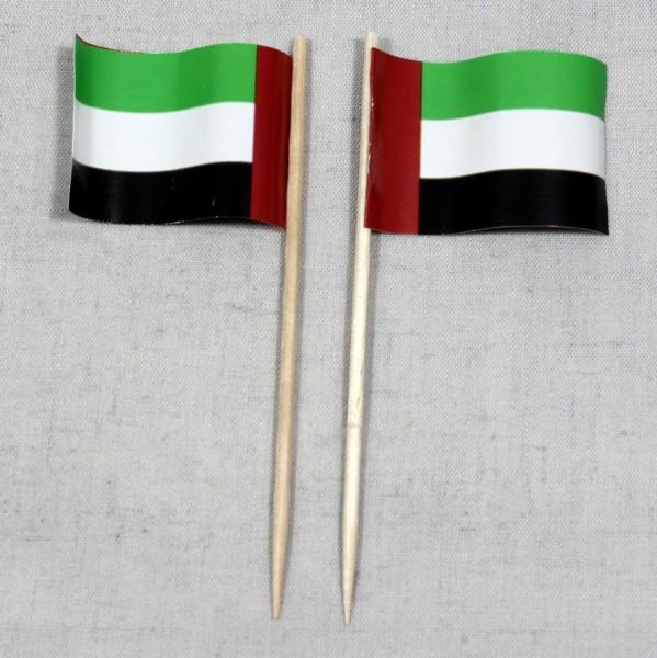 Party-Picker Flagge Vereinigte Arabische Emirate VAE Papierfähnchen in Spitzenqualität 50 Stück Beut