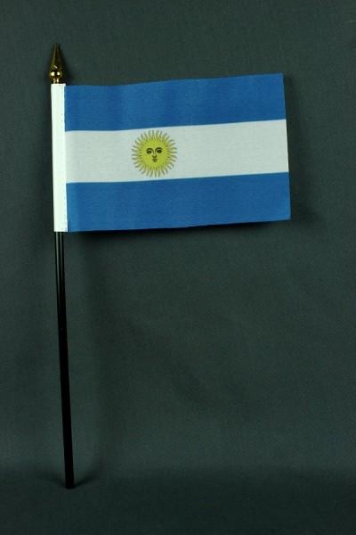Kleine Tischflagge Argentinien 10x15 cm optional mit Tischfähnchenständer