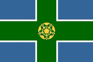 Flagge Fahne : Derbyshire England