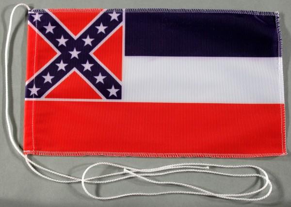 Tischflagge Mississippi USA Bundesstaat US State 25x15 cm optional mit Holz- oder Chromständer Tisch
