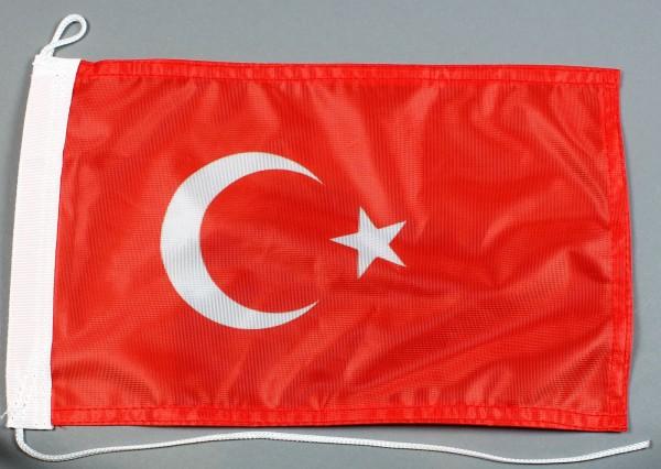 Bootsflagge : Türkei 30x20 cm Motorradflagge