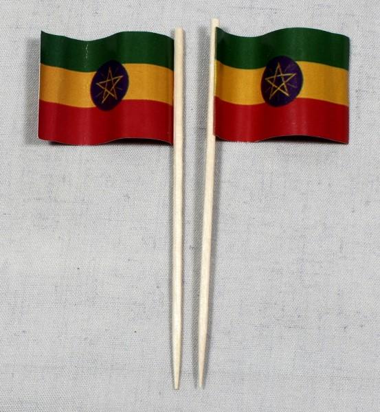 Party-Picker Flagge Äthiopien Papierfähnchen in Spitzenqualität 50 Stück Beutel