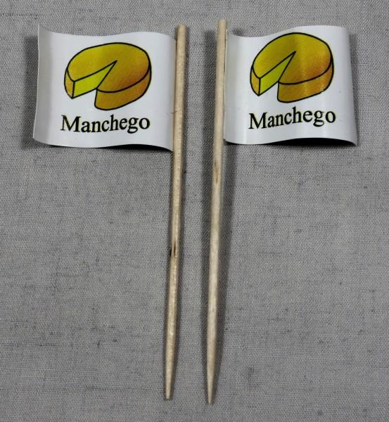 Party-Picker Flagge Manchego Käse Papierfähnchen in Spitzenqualität 50 Stück Beutel