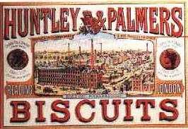 Blechschild Huntley & Palmers Biscuits London Nostalgieschild Reklame Schild