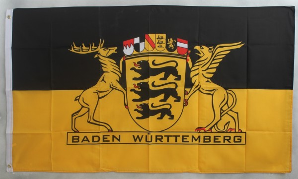 Flagge Fahne Baden Württemberg mit Text