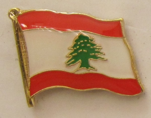 Libanon Pin Anstecker Flagge Fahne Nationalflagge