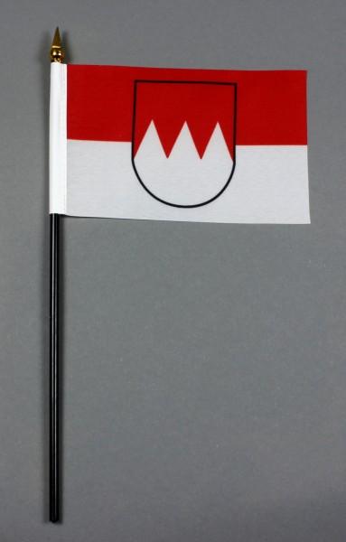 Kleine Tischflagge Franken 10x15 cm optional mit Tischfähnchenständer