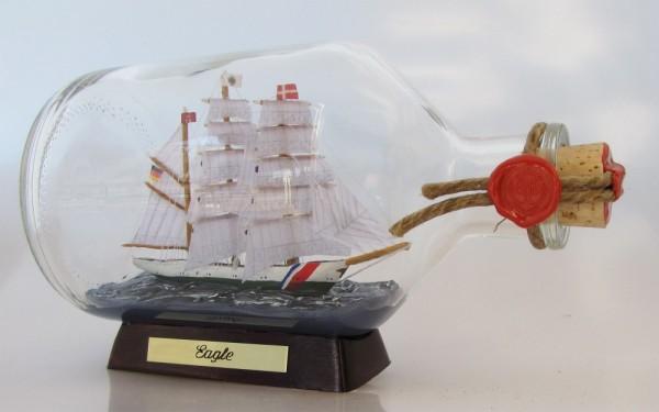 Eagle US Coastguard 1 Liter Apothekerflasche Buddelschiff Flaschenschiff
