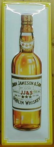 Blechschild John Jameson Dublin Whiskey Flasche Hochformat (3) Schild Werbeschild