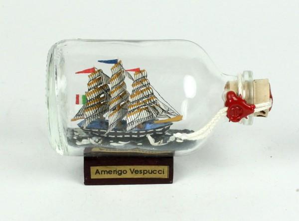 Amerigo Vespucci Mini Buddelschiff 50 ml ca. 7,2 x 4,5 cm Flaschenschiff