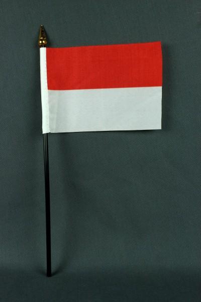 Kleine Tischflagge Indonesien 10x15 cm optional mit Tischfähnchenständer
