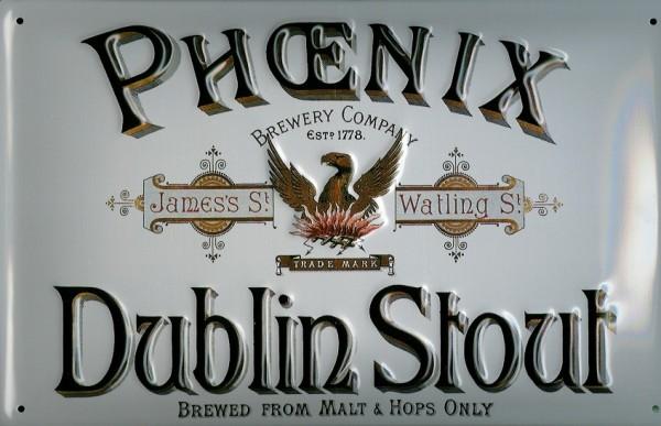 Blechschild Phoenix Dublin Stout Bier Irland retro Schild Nostalgieschild