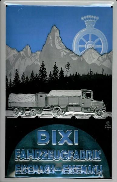 Blechschild Dixi Lastwagen LKW Eisenach Schild Werbeschild retro Nostalgieschild