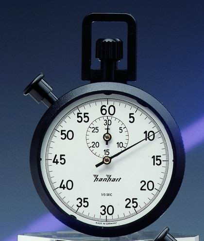 Mechanische analoge Stoppuhr Hanhart ABS 1/5 sec 30 min