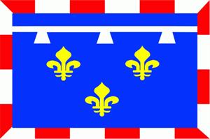 Flagge Fahne : Centre (Region) Frankreich