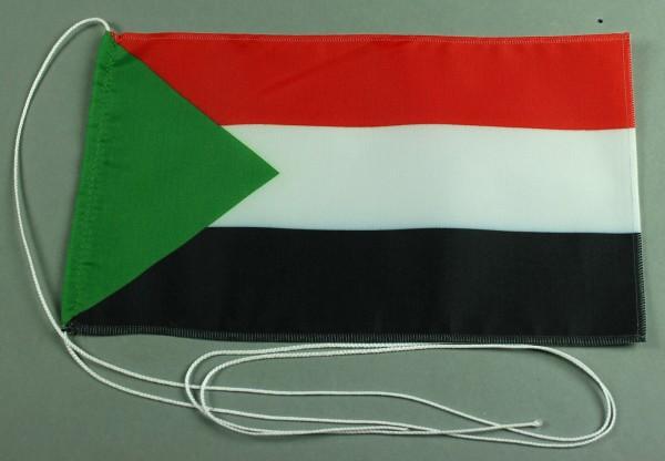 Tischflagge Sudan 25x15 cm optional mit Holz- oder Chromständer Tischfahne Tischfähnchen