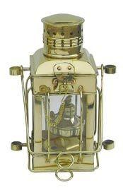 Cargo-Lampe Schiffslampe 25cm Messing Petroleumbrenner
