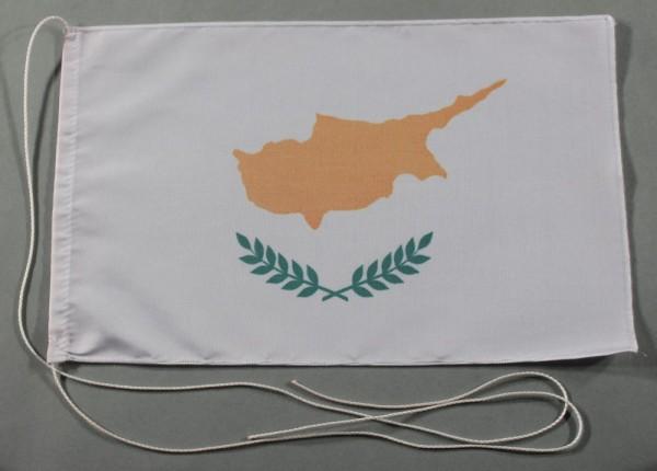 Tischflagge Zypern 25x15 cm optional mit Holz- oder Chromständer Tischfahne Tischfähnchen