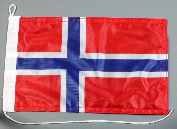 Bootsflagge : Norwegen 30x20 cm Motorradflagge