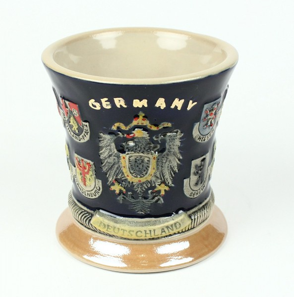 Deutschland Becher 16 Wappen Bierkrug Optik Kaffeebecher Kaffeetasse Tasse Pott Bier Glas