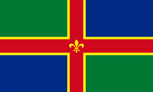 Flagge Fahne : Lincolnshire England