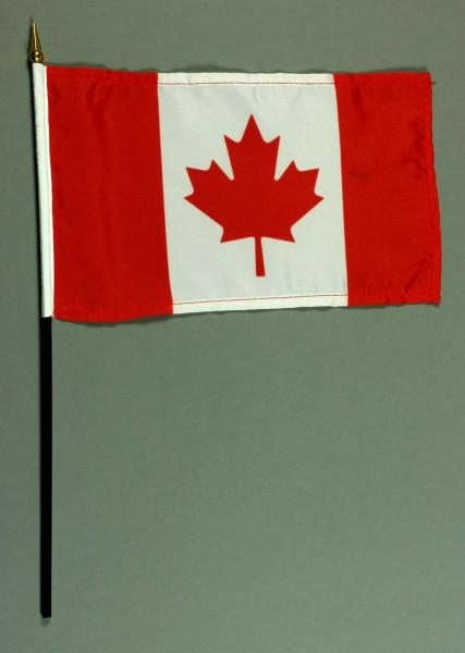 Tischflagge Kanada 15x25 cm BASIC optional mit Tischflaggenständer