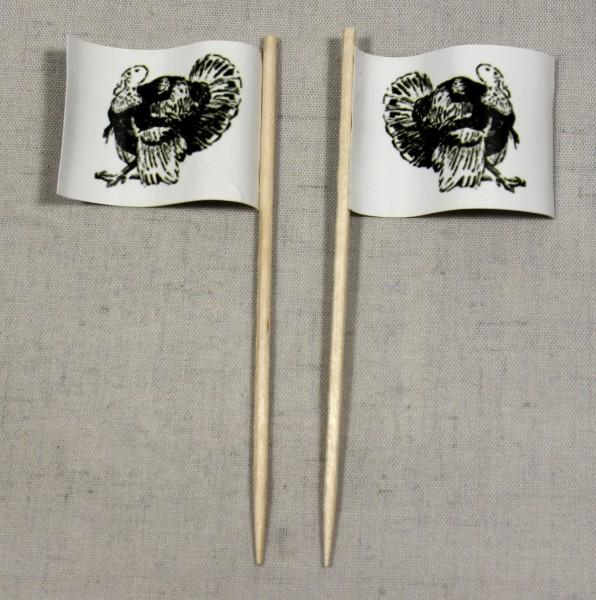 Party-Picker Flagge Pute Truthahn Papierfähnchen in Spitzenqualität 50 Stück Beutel
