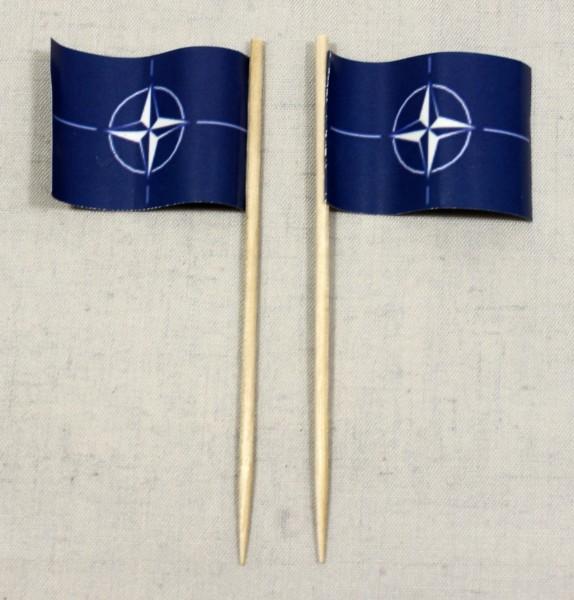Party-Picker Flagge NATO Papierfähnchen in Spitzenqualität 50 Stück Beutel