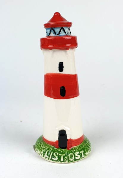 List Sylt Leuchtturm Modell 10,5cm Keramik Leuchtturmmodell Standmodell List-Ost