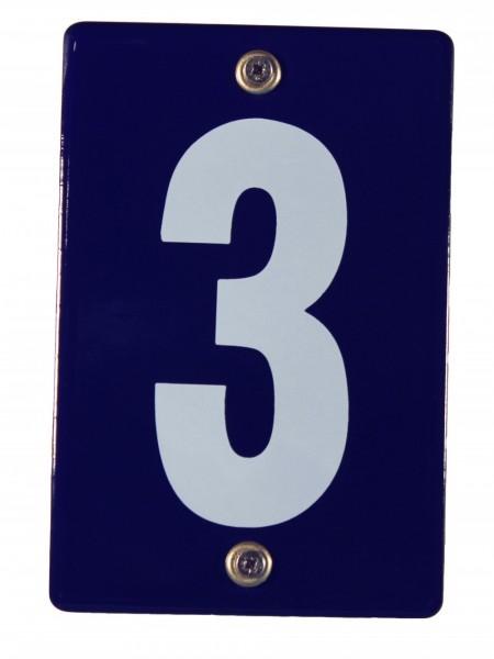 Hausnummernschild 3 Emaille Hausnummer Schild 12x8 cm Haus Nummer Zahl Ziffer Metallschild