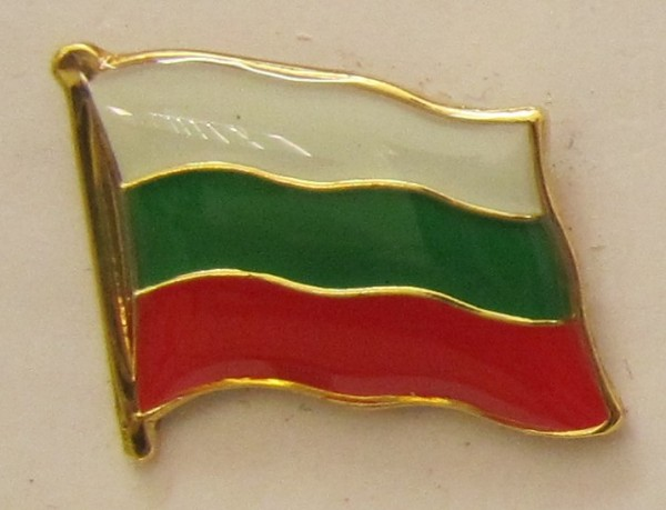 Pin Anstecker Flagge Fahne Bulgarien Nationalflagge Flaggenpin Button Badge Flaggen Clip Anstecknade