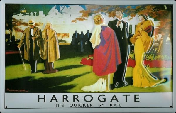 Blechschild Nostalgieschild Harrogate Railway Station London