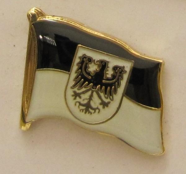 Pin Anstecker Flagge Fahne Ostpreussen Ost Preußen Adler Wappen