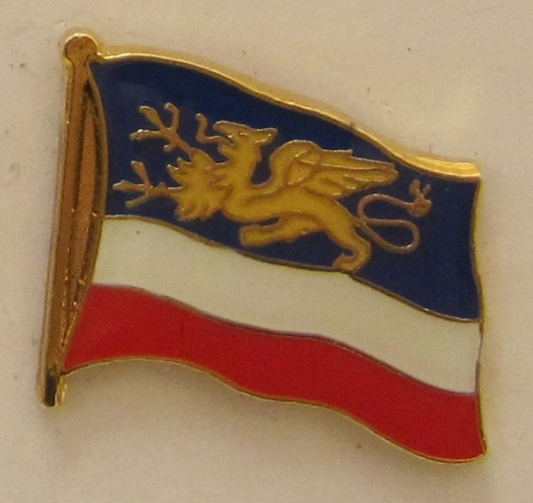 Pin Anstecker Flagge Fahne Rostock Stadtflagge