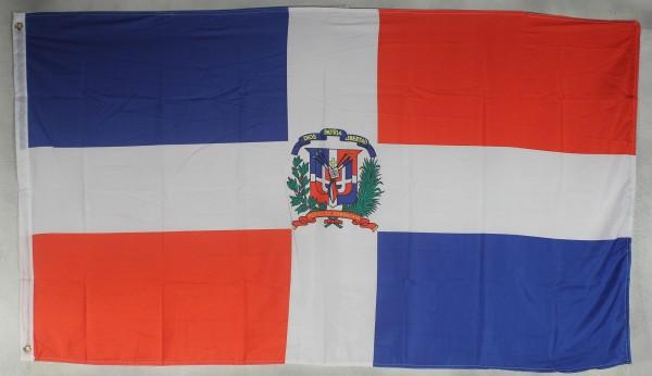 Flagge Fahne : Dominikanische Republik Domrep Nationalflagge Nationalfahne
