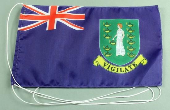 Tischflagge British Virgin Islands Jungferninseln 25x15 cm optional mit Holz- oder Chromständer Tisc