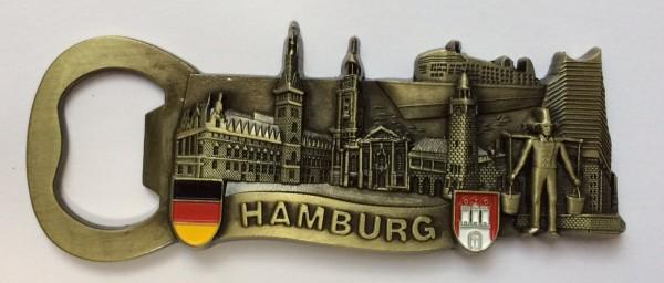 Magnet Hamburg Wahrzeichen Flaschenöffner Messing Souvenir Hummel Rathaus Schiff Michel Elbphilharmo