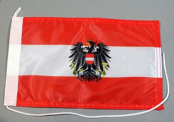 Bootsflagge : Österreich mit Adler Wappen 30x20 cm Motorradflagge