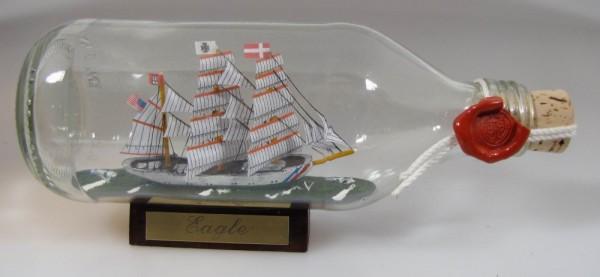 Eagle USA Coastguard runde Flasche 0,3 Liter Buddelschiff Flaschenschiff