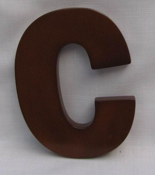 "Hausnummer Buchstabe ""c"" aus lackiertem Massivholz, ca. 12 cm"
