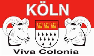 Flagge Fahne Köln Viva Colonia Stadtflagge