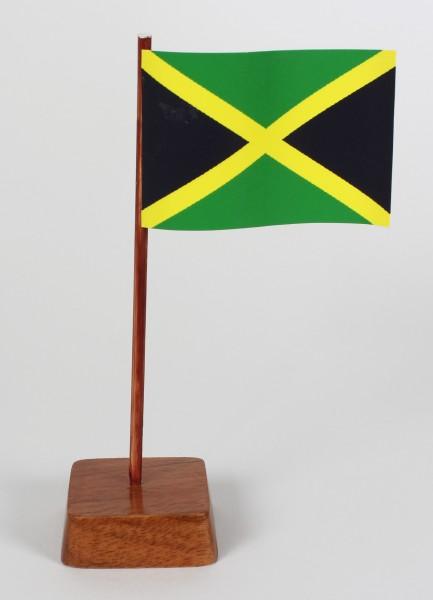Mini Tischflagge Jamaika Höhe 13 cm Tischfähnchen